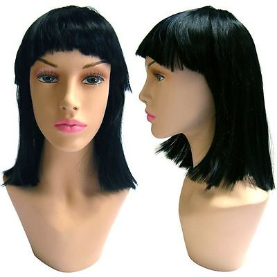 WG-045 Black Collette Wig (Halloween/Party/Costume/Cosplay) Wig - Halloween Wg Party