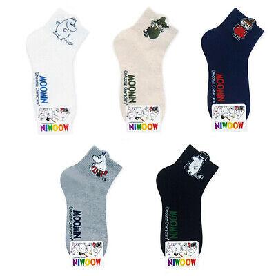 New 5 Pairs Moomin Character Socks Women Socks Cute Cartoon Socks MADE IN KOREA