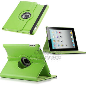 GREEN 360 ROTATING PU LEATHER CASE COVER WITH STAND FOR IPAD AIR Regina Regina Area image 8