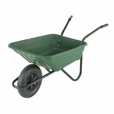 Walsall Shire 90 Litre Polypropylene Wheelbarrow Green (COLLECTION ONLY)