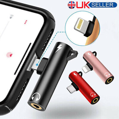 Lightning to Aux 3.5mm Cable Adapter Headphone Jack Splitter for iPhone 8 Plus X