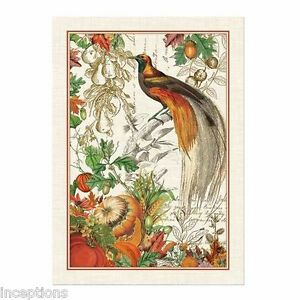 Michel Design Works Cotton Kitchen Tea Towel Autumn Harvest NEW