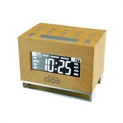 GPX Intelli-Set Clock with Digital Tune AM/FM Radio Gradual Wake Dual Alarm