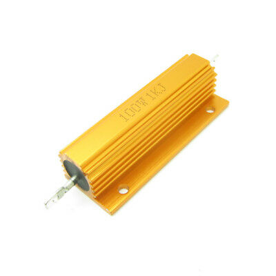 High Power 1000 Ohm 1k 100w Watt Aluminum Shell Case Wirewound Golden Resistor