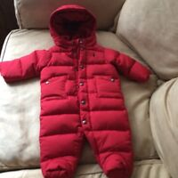 Brand new Ralph Lauren quilted down snowsuit.