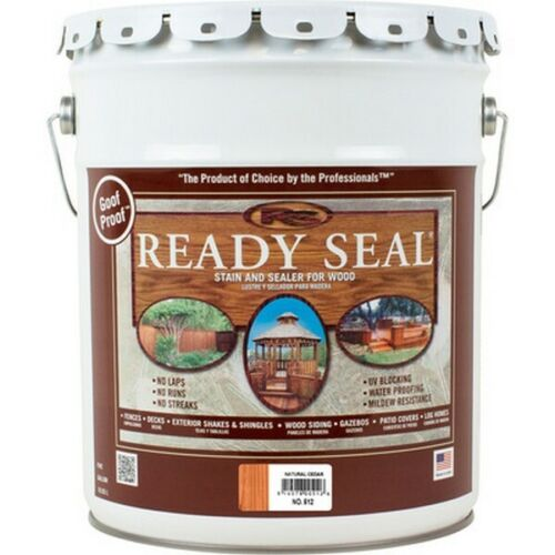 Ready Seal 512 Exterior Wood Stain and Sealer - Natural Cedar, 5 Gallons