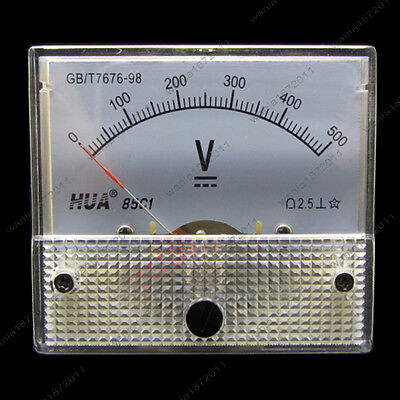 Dc 500v Analog Voltmeter Panel Pointer Volt Voltage Meter Gauge 85c1 0-500v Dc