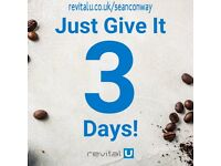 RevitalU Smart Coffee. A scientific blend to help you re-energise, focus and lose weight.