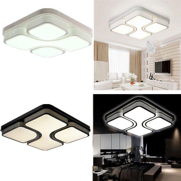 36w 48w quadrat ceiling led modern deckenleucht wandlampe deckenlampe wohnzimmer ebay. Black Bedroom Furniture Sets. Home Design Ideas