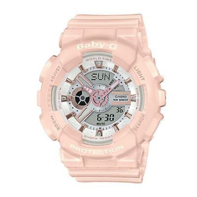 BRAND NEW CASIO BABY-G BA110RG-4A ANA-DIGI PASTEL PINK WATCH NWT!!!!