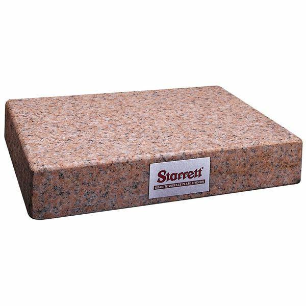 "Starrett 81803 8"" x 12"" Crystal Pink Granite Toolmaker"