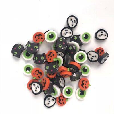 50 mini Halloween erasers math teacher supply sorting counter eyes pumpkins cats (Halloween Math)