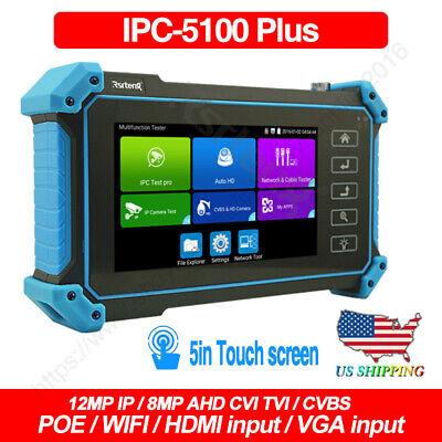 Ipc-5100 Plus 5 4k Cctv Camera Tester Ipc Ahd Cvi Tvi Test Poe Wifi Hdmi Vga Us