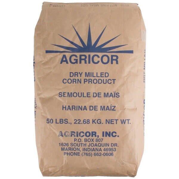 Agricor Fine Yellow Cornmeal - 50 Lb Bag