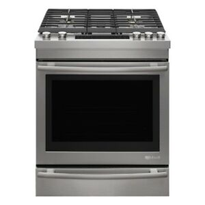 Jenn-Air® 30″ Dual ­Fuel Range Whit The boasts 19,000-­BTU Dual