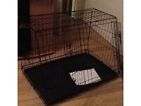 2 DOOR SLOPING DOG CAGE