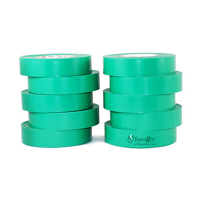 Tapessupply 10 Rolls Pack Green Electrical Tape 34 X 66 Ft