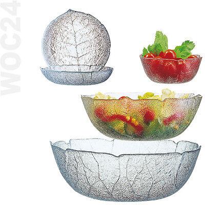 Blätter Schale Schüssel Glas Glasschüssel Stapelschale Salatschüssel Salatschale Schale Schüssel