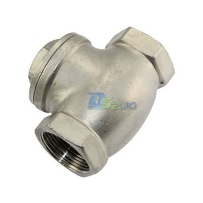 1-14 1.25 Swing Check Valve Wog 200 Psi Pn16 Stainless Steel Ss316 Cf8m Npt