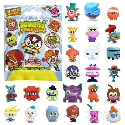 New Moshi Monsters Series 4 Blind Bag With 2 Moshlings Card & Rox Code Official