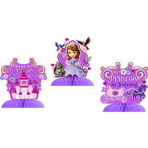 Sofia the First Disney Princess~(3) Mini Centerpieces~Birthday Party Supplies