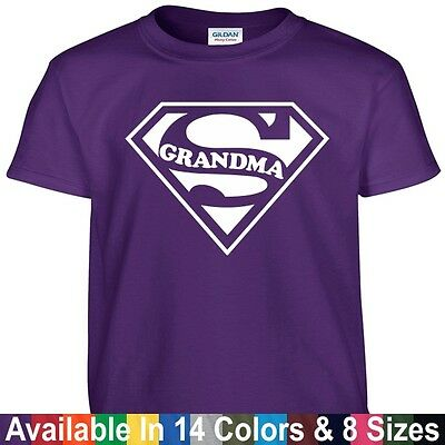 SUPER GRANDMA Funny Mom Mothers Day Birthday Christmas Shower Gift Tee T Shirt - Mom Shower