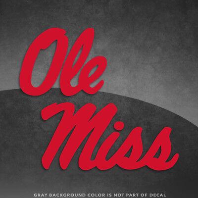 Ole Miss Mississippi Rebels Logo Vinyl Decal Sticker - 4