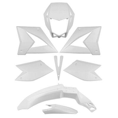 Verkleidung Verkleidungsset 8 Verkleidungsteile in Weiss für CPI SM SX 50ccm