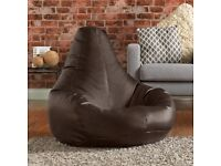 Luxury Reclining Bean Bag Chair in Faux Leather Exeter Devon