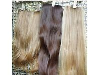 Human hair extensions clips