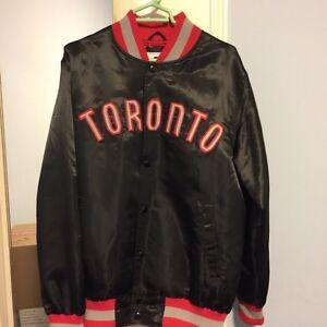 Toronto Raptors Satin Varsity Starter Jacket Medium