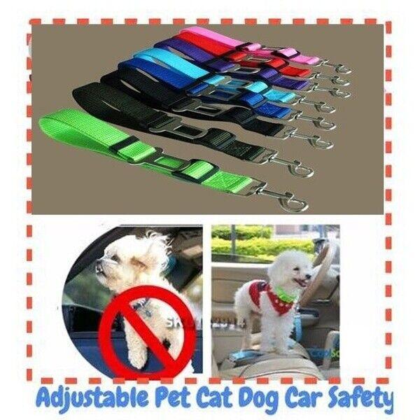 Car Pet Dog Cat Adjustable Vehicle Safety Seatbelt Seat Belt Harness Lead - CA$15.00