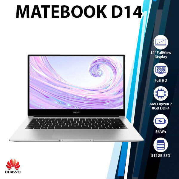 "Laptop Windows - Huawei MateBook D 14"" Ryzen 7 3700U Radeon RX Vega 10 512GB SSD Windows Laptop"
