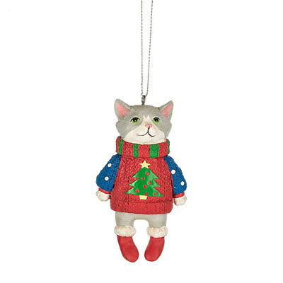 Cat in Ugly Sweater Ornament