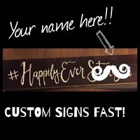 Quick custom hand-lettered signs!
