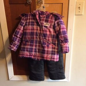 Size 2 toddlers winter jacket and snow pants