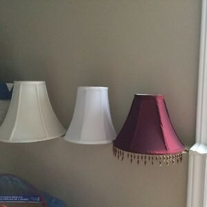 3 Replacement fabric lamp shades, various sizes