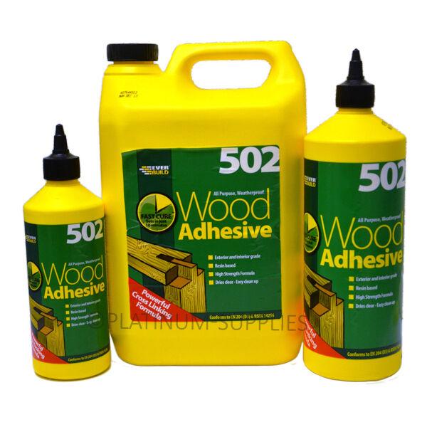 502 All Purpose Weatherproof Wood Adhesive Glue Everbuild 500ml 1lt 5ltr Ebay