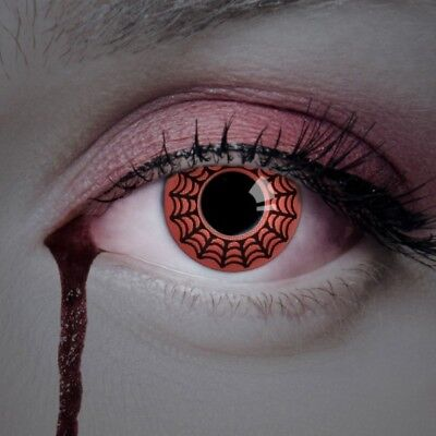 aricona Farblinsen rote Kontaktlinsen farbig zum Hexen Kostüm Halloween Make-up ()