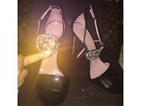 Brand new LIMITED EDITION Black Gucci strap sandal heels with Swarovski Gucci crystal logo,Size 6/39