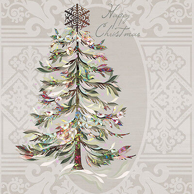 Crystal Christmas Tree Paper Luncheon Napkins 40pcs 13