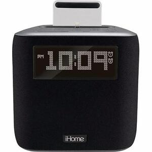iHome IPL24GC FM Dual Clock radio for iPod and iPhone  Gunmetal(Open Box)
