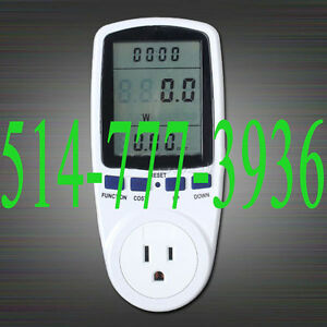 Voltage Electricity Monitor Analyzer Power Factor US Plug Watt
