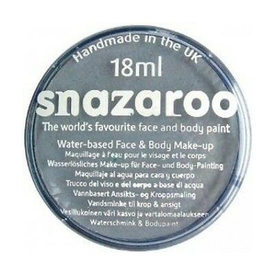 Child Face Paint For Halloween (GREY FACE BODY PAINT BY SNAZAROO FOR PARTIES HALLOWEEN GHOSTS KIDS AND)