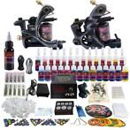 Complete Tattoo Set met 2 Guns Liner Shader inkt naalden