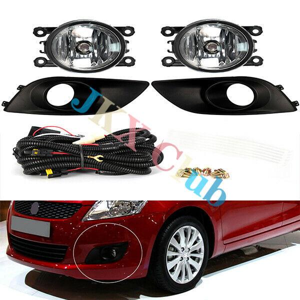 Car Fog Cover Lamp Light W  Bulb Switch Wire Kit For Suzuki