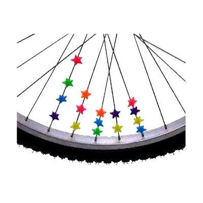 36 Stk. Speichendeko Sterne Speichendekoration für Speichen Speichenklicker