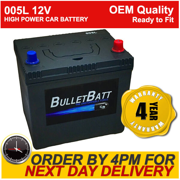 005L BulletBatt Car Battery - High Power - Heavy Duty - Next Day Del - 4 Yr Gty