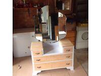 Vintage recently refurbished dressing table