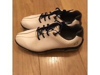 Boys White Footjoy Golf Shoes